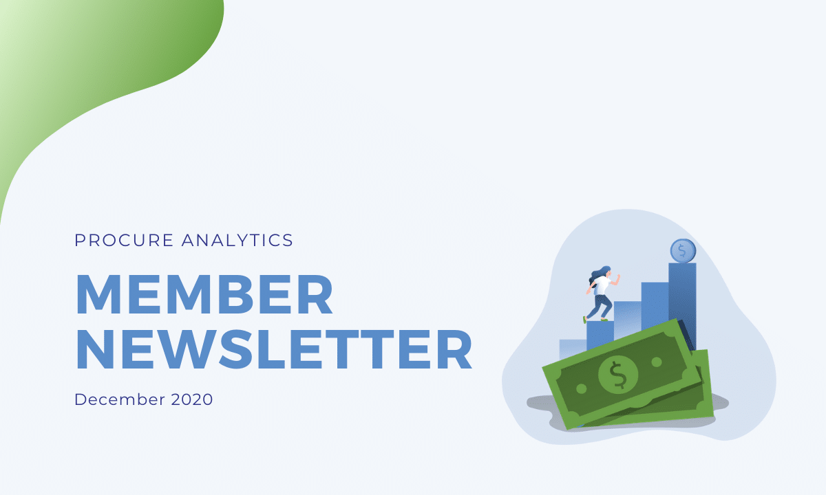 Procure Analytics member newsletter dec 20