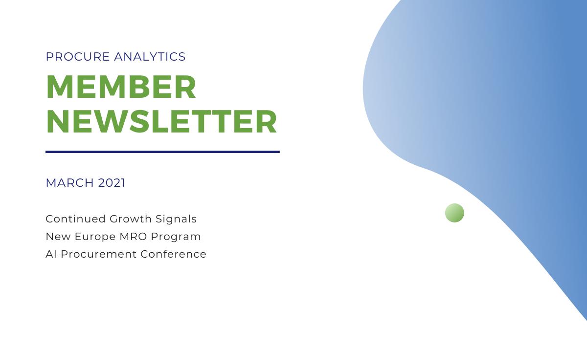 March 2021 Member Newsletter